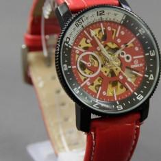 Ceas Barbatesc aviator - Ceas Automatic Goer Barbati AVIATOR Red Edition CEL MAI MIC PRET
