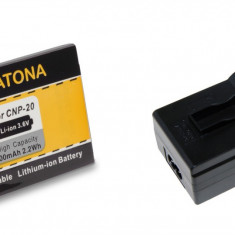 Incarcator Aparat Foto - 1 PATONA | Incarcator + Acumulator compatibil Casio NP-20 NP20 NP 20