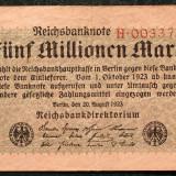 Bancnota Straine, Europa, An: 1923 - P1 GERMANIA 5 Millionen 5.000.000 Mark 20.8.1923 sr 00337930 P# 105 VF model 4