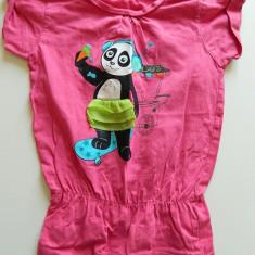 Haine Copii 4 - 6 ani, Tricouri, Fete - Tricou tip rochita pentru fetite, marimea 4-5 ani, ideal vara