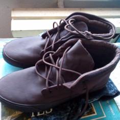 Ghete Mid-Top Kangol Fold Down Chukka Skate Shoes Punk Rock Tenişi stil Vans - Ghete barbati Kangol, Marime: 42, Culoare: Cappuccino