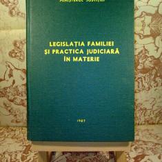 Legislatia familiei si practica judiciara in materie