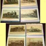 Locomotive 1900-1920, Lot 56 carti postale straine, trenuri, ferovia, cai ferate, Ambele, Printata, Europa