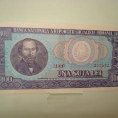 Bancnote Romanesti, An: 1966 - Bancnota 100 lei 1966, 231872, UNC