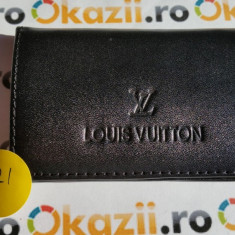Cutie carduri de vizita Business Card Case LOUIS VUITTON cod 921 - Portofel Barbati Louis Vuitton, Negru, Cu inchizatoare