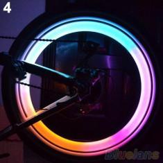 2 x Licurici (leduri) multicolori pt tuning bicicleta, Faruri si semnalizatoare