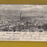 BISTRITA 1900 - Carte Postala Transilvania pana la 1904, Circulata, Fotografie