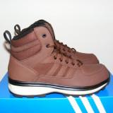 Ghete Adidas Chasker Boots Burgundy/Black din piele si imblanite nr. 44