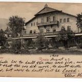 SINAIA HOTEL SINAIA JOSEPH UNGARTH CIRCULAT LOCO 1900 - Carte Postala Muntenia pana la 1904, Necirculata, Fotografie