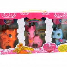 Vehicul - Set de joaca Globo 3 ponei unicorn cu accesorii
