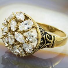 Inel placate cu aur - Inel Placat cu Aur 18K cu Zirconiu, cod 850