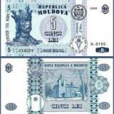 bancnota europa, An: 2009 - SV * Moldova 5 LEI 2009 UNC