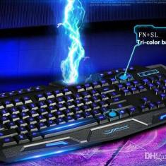 Tastatura gaming la usb.iluminata, M200, Cu fir, Tastatura iluminata