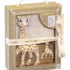 Set Prestige SO PURE Girafa Sophie cu breloc Vulli - Jucarie interactiva
