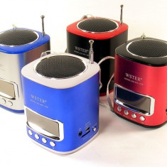 Radio MP3 player Alta cu Port MiniUSB/USB Jack 3.5mm si Difuzor - PRODUS NOU, Albastru, Display, FM radio