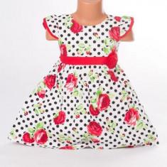 Haine dama - Rochite de fetite imprimeu cu buline si floricele