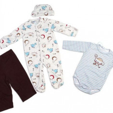 Haine copii - Set hainute 4 piese pentru bebelusi Nice Dino