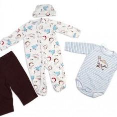 Set hainute 4 piese pentru bebelusi Nice Dino