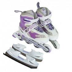 Patine de Gheata - Role Spartan Eislauf Inliner Alb-Violet 30-33