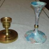 Sfesnic din bronz masiv set doua piese