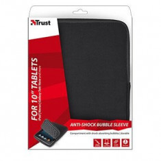 Trust Anti-shock Bubble Sleeve for 10 tablets - black