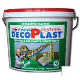 Tapet - Tencuiala decorativa DecoPlast B2 driscuita 1, 0, 1, 5 si 3 mm - 28 kg