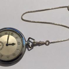 Ceas de buzunar - LANT CEAS DIN ARGINT 24 CM