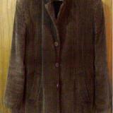 Palton catifea Berto Lucci - Palton barbati, Marime: 42, Culoare: Maro