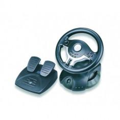 Accesoriu Consola - GEMBIRD Volan + pedale Gembird Raceforce, USB, dual vibration, 180 degree free rotation, Digital/Analog, Plu