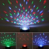 Iluminat decorativ - Glob proiector RGB cu senzor de sunet