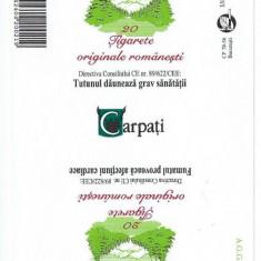 Ambalaj pachet tigari CARPATI / nefolosit