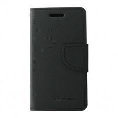 Husa Atlas, Negru, Textil, Toc - Toc My-Fancy Samsung Galaxy Trend Lite2/Ace NXT Negru