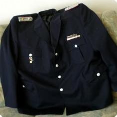 Veston militar pompier complet, decoratii, barete, epoleti
