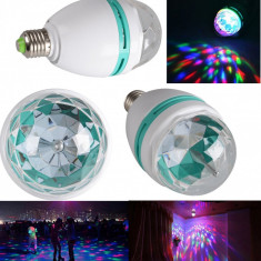 BEC rotativ cu LED ptr. BAR CLUB sau DISCO multicolor pe dulie normala - Efecte lumini club