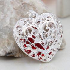 Lantisor argint, Femei - Lantisor lant colier plus pandantiv superb din argint 925 + cutie cadou