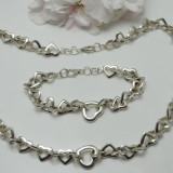 Set bijuterii argint - SUPERB SET MASIV CONFECTIONAT DIN ARGINT. ITALY