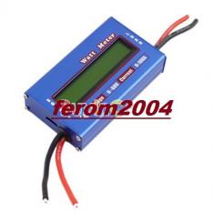 Multifunctional digital voltmetru, wattmetru, ampermetru, 4 - 60 V, 100 A