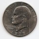 "Statele Unite (SUA) 1 Dolar 1977 - ""Eisenhower Dollar"", 38.1 mm, KM-203 (2), America de Nord, An: 1977"