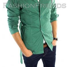 Palton tip ZARA verde - palton barbati - palton slim fit - cod 5362