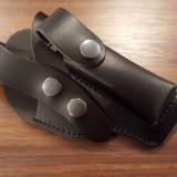 Toc piele cu sector pentru pistol Carpati, ME9, Walther - 25 lei