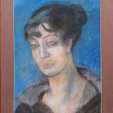 Tablou, Portrete, Pastel, Altul - Berea Pastel pe carton Dimensiuni fara rama si pass. 40cm/30cm