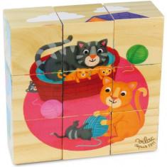 9 Cuburi lemn Melusine - Jucarie pentru patut Vilac