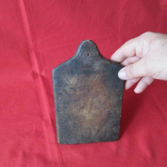 Tocator vechi din lemn, tocator rustic vechi, lucrat manual - mestesug taranesc