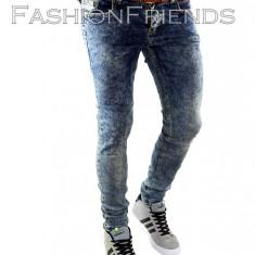 Blugi tip Zara fashion - blugi barbati blugi slimfit blugi conici - cod 1010, Marime: 31, Culoare: Din imagine