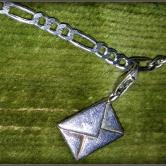 Bratara pentru copii - argint cu titlul 925 - medalion scrisoare/ plic - Bratara argint