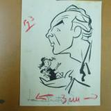 Tablou, Portrete, Cerneala, Altul - Neagu Radulescu caricatura Laurentiu Fulga