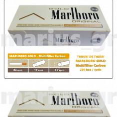 1.000 tuburi Marlboro GOLD - Multiflitru Carbon / pentru umplut tigari cu tutun - Foite tigari