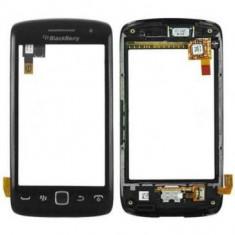 Accesoriu - Carcasa fata cu touchscreen BlackBerry Torch 9860 Originala Neagra