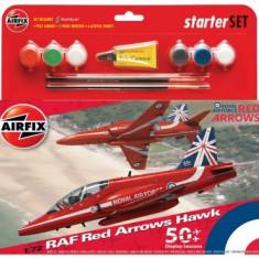 Kit Constructie Avion Raf Red Arrows Hawk Mediu - Jocuri Seturi constructie Airfix