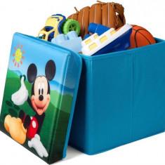 Taburet Si Cutie Depozitare Jucarii Disney Mickey Mouse - Set mobila copii